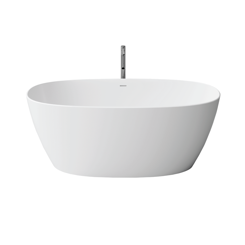 """Picture of Como White 67"""" Solid Surface Freestanding Bathtub"""