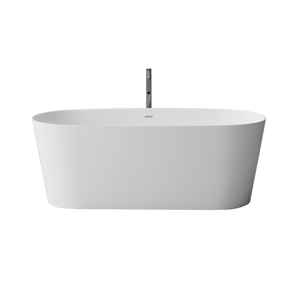"Picture of Felice White Contemporary 65"" Freestanding Bathtub"