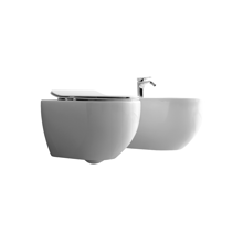 Picture of FLOAT GLOSSY WHITE WALL HUNG TOILET, NORIM
