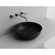 "Picture of RONDA 16"" Matt Black Round Vessel Sink, Solid Surface"