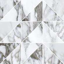 "Picture of Roberto Cavalli Lush 12""x12"" Calacatta Renoir Mosaico Triangoli"