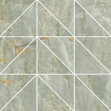 "Picture of Roberto Cavalli Lush 12""x12"" Onice Verde Mosaico Foglio Lux"
