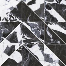 "Picture of Roberto Cavalli Lush 12""x12"" Noir Antique Mosaico Triangoli"