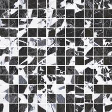 "Picture of Roberto Cavalli Lush 12""x12"" Noir Antique Mosaico Triangoli Foglio"