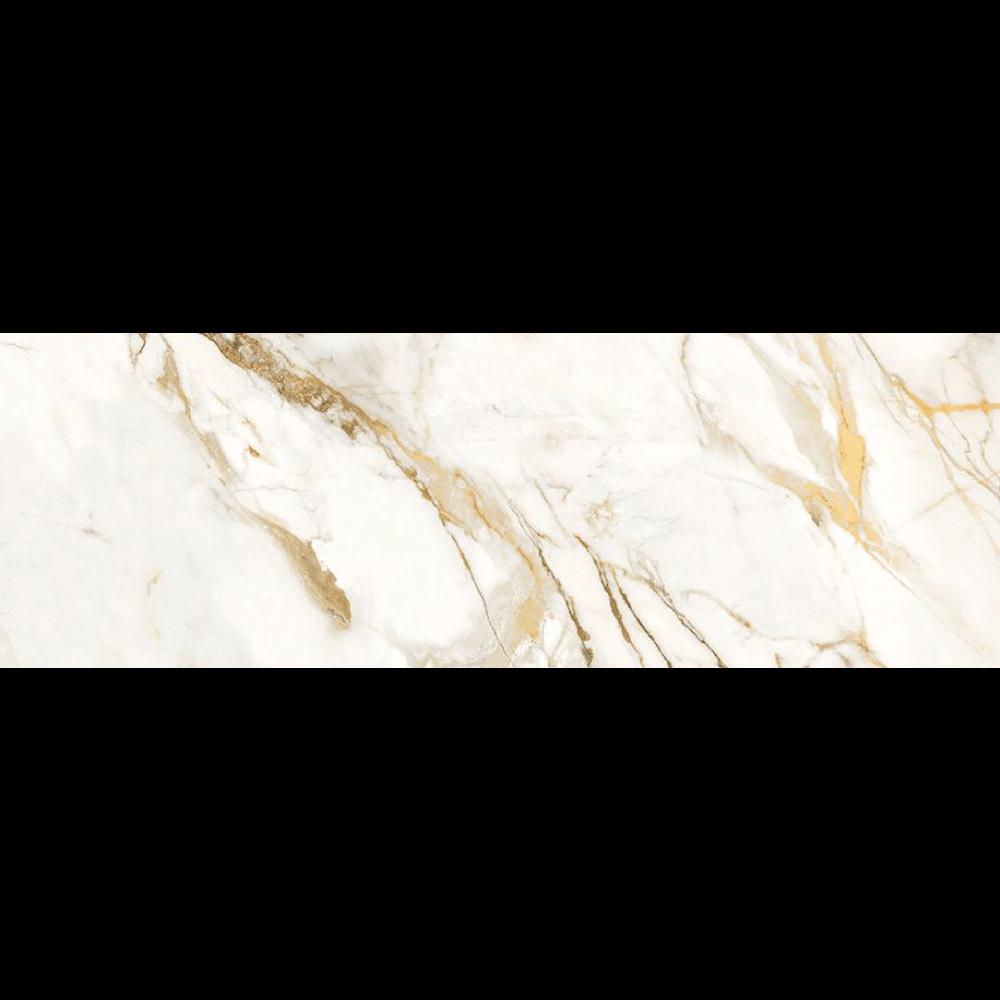 """Picture of Roberto Cavalli Lush 12""""x36"""" Calacatta Oro Deco Lux.Rett Pasta Bianca"""