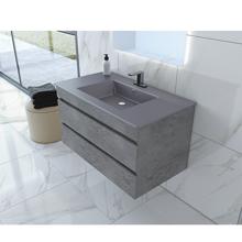 Picture of 36'' Glance Granite Bathroom Vanity, Matt Gray Sink