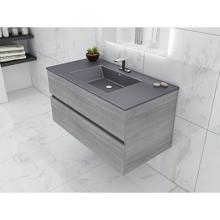 Picture of 36'' Frozen Gray Bathroom Vanity, Matt Gray Sink