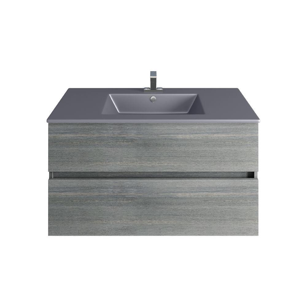 """Picture of Frozen Gray 36"""" Wall Hang Bathroom Vanity"""