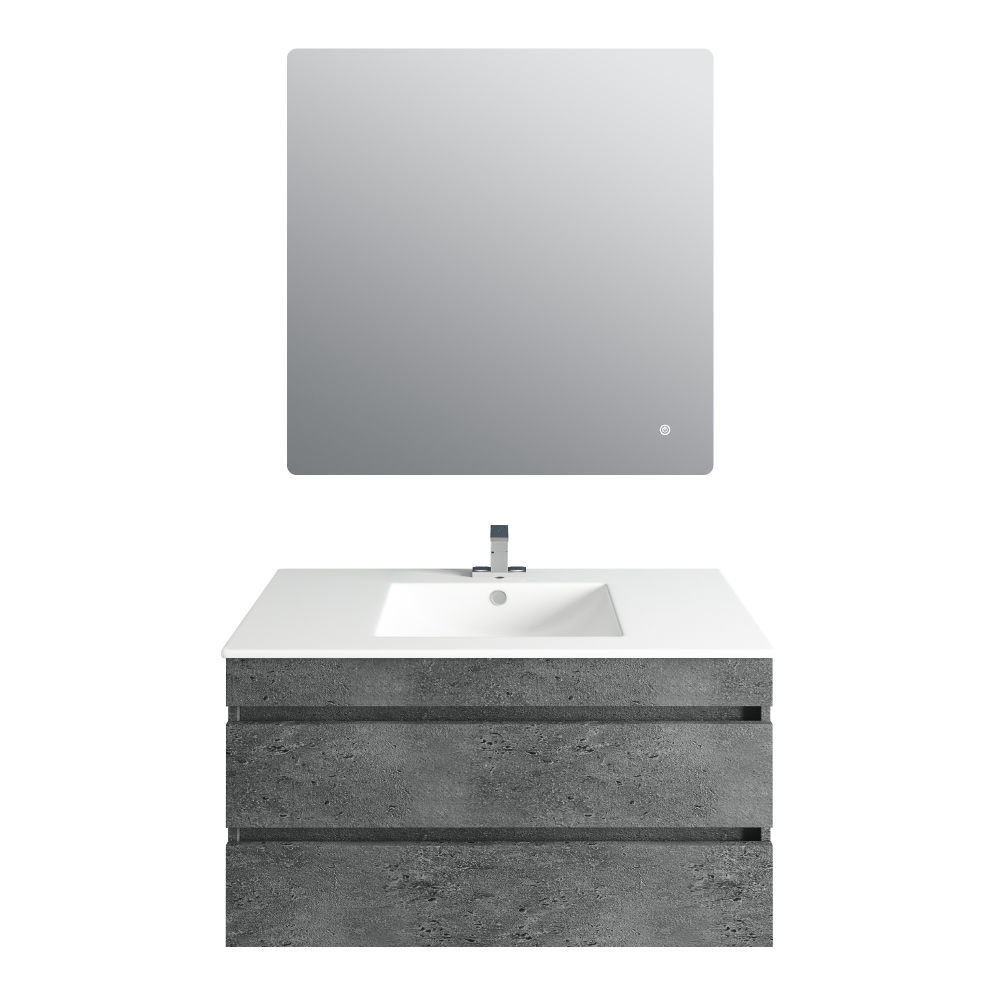 Picture of 36'' Glance Granite Vanity, Matt White Sink, Avenue Mirror